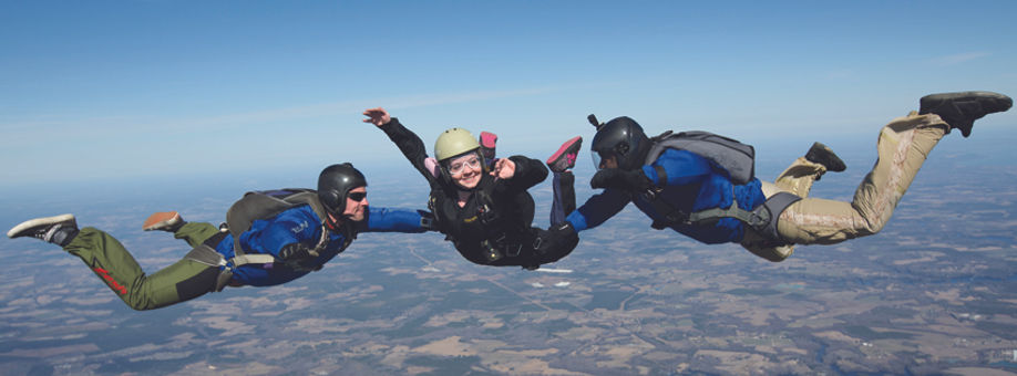 Learn to skydive with our AFF Program