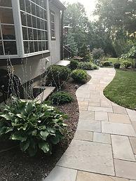 Blue Stone Walkway