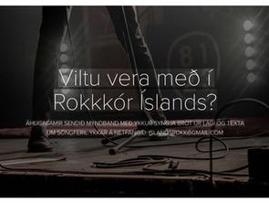 Viltu vera með í Rokkkór Íslands?