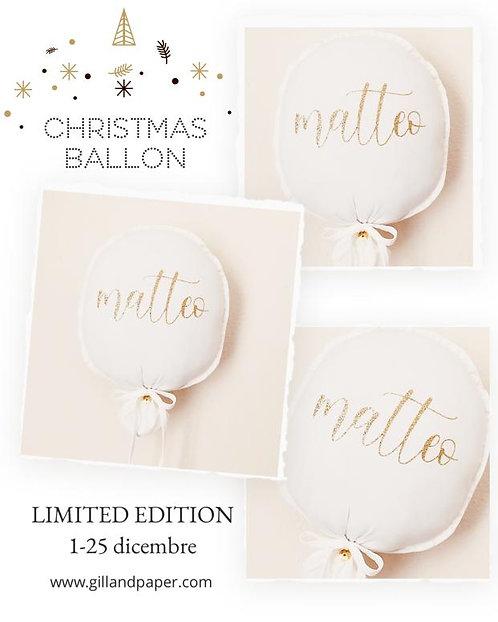 WHITE Balloon Christmas