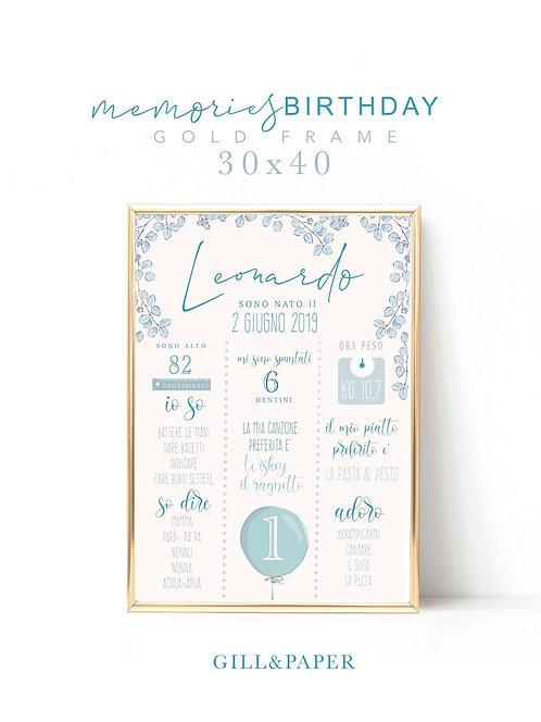Quadretto Primo compleanno bimbo