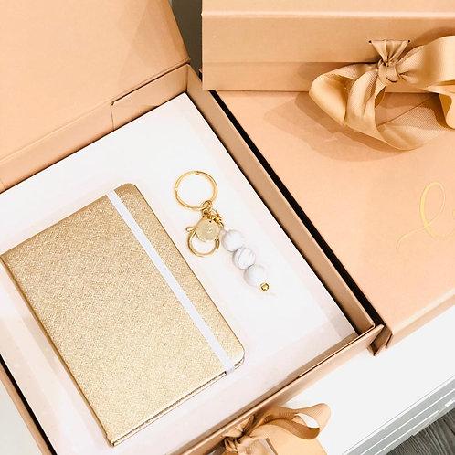 Box Rose Gold Taccuino e Portachiavi