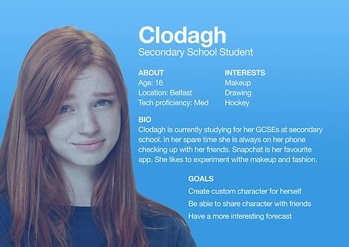 User Persona Clodagh