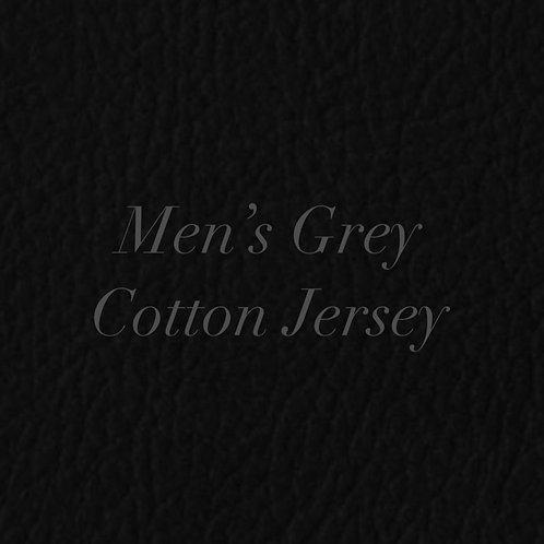 Mens Grey Cotton Jersey Bandana