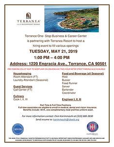 Terranea Resort Recruitment Flyer, Torra