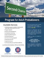 Adult Probationers flyer