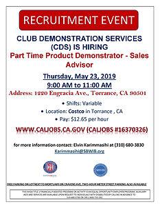 CLUB DEMONISTARATION SERVICES (CDS) Recr