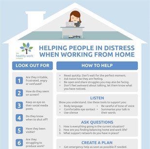[INFOGRAPHIC] Helping People In Distress When Working From Home