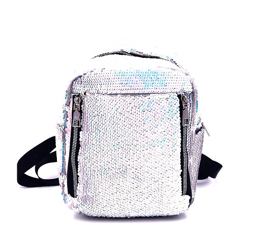 Domani lightweight sequin mini backpack - silver