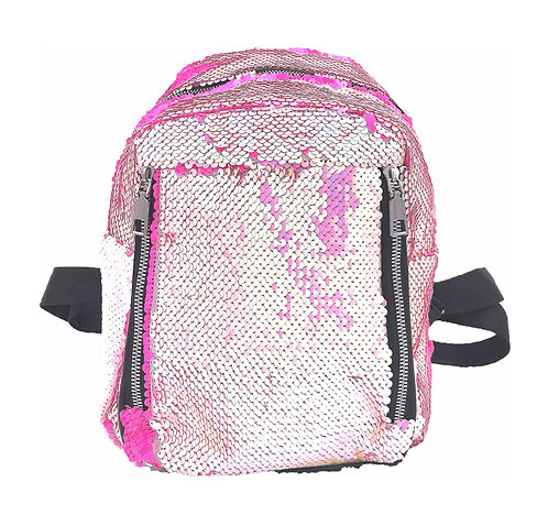 Domani lightweight sequin mini backpack - pink