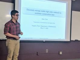 Jesse Chan Talk on Entropy Stable Schemes @VT
