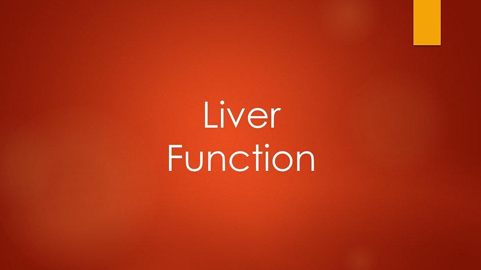 Liver Function Test (LFTs)