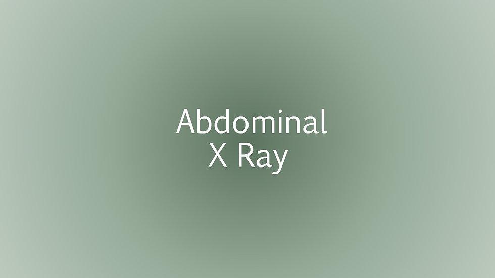 Abdominal X ray