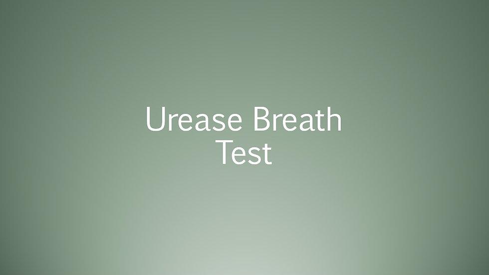 Urease Breath test
