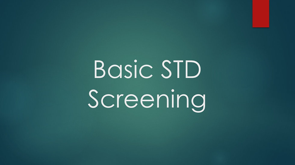 Basic STD Screening