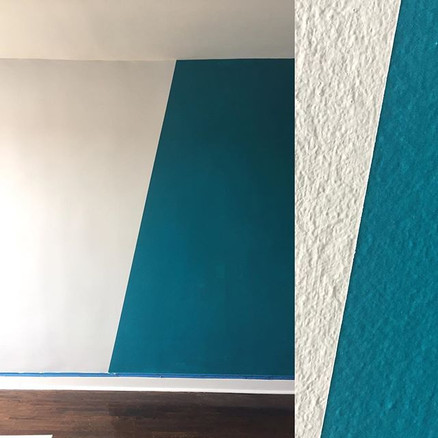 Lead Designer - Woodside, NY 1 Bedroom Diagonal Line Painting