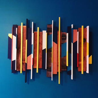 Lead Designer - Custom Mid-Century Style Wood Wall Art