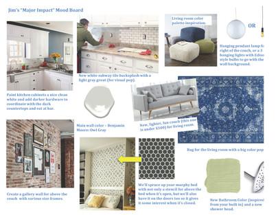 Mood Board Example - Union Square Studio Airbnb Upgrade