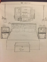 Bedroom Rough Sketch for Connecticut Bedroom Upgrade