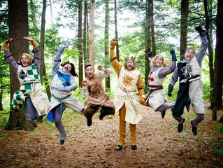 "Laughing a lot in ""Spamalot"""