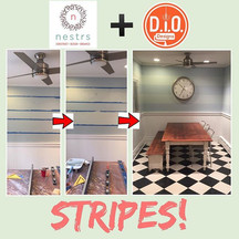 Interior Painter with @Nestrs - Montclair, NJ Kitchen Stripes
