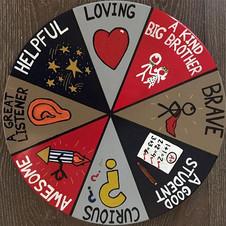 "Design Associate with Nestrs - Hand-painted ""Behavior Wheel"" for Brooklyn ""Big Boy"" Bedroom"