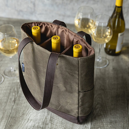 Customized 3 Bottle Insulated Wine Cooler Bag