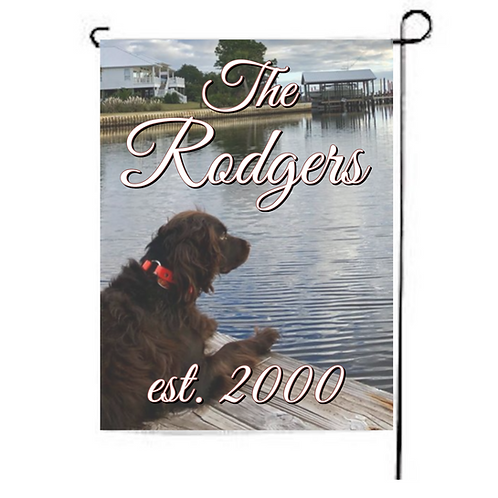 Custom Garden Flag with Family Name