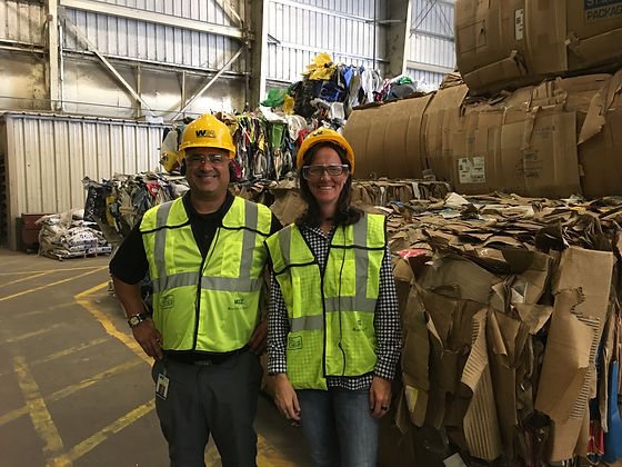 Crissy Stile on Waste Management's Tampa Materials Recovery Facility (MRF) tour