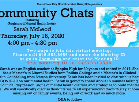 Community Chat - Mental Health through COVID-19