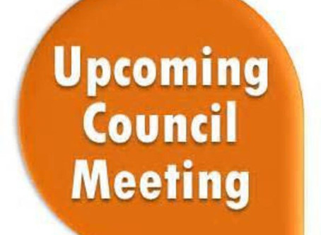 Upcoming City Council Meeting Thursday, September 24, 2020