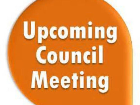 Upcoming City Council Meeting Thursday, September 24, 2020