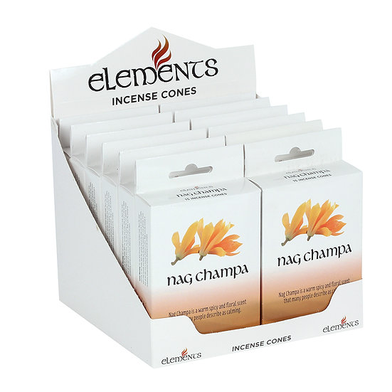 12 Packs of Elements Nag Champa Incense Cones
