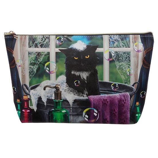 Large PVC Make Up Toiletry Wash Bag - Lisa Parker Bath Time Cat