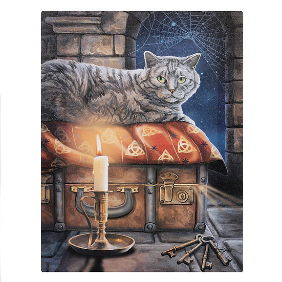 19x25cm The Keeper Of Secrets Canvas Plaque by Lisa Parker