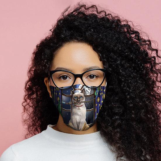 Lisa Parker Hocus Pocus Cat Face Covering - Large