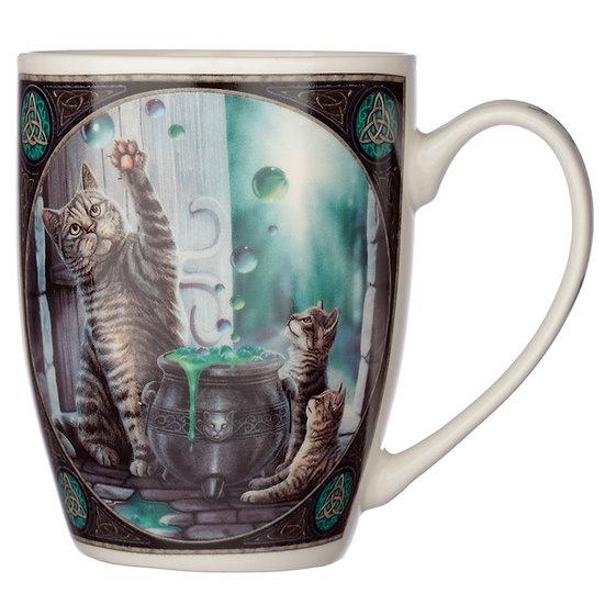 Lisa Parker Porcelain Mug - Hubble Bubble Cat Design