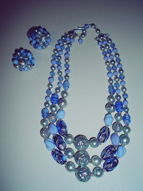 blue rainbow glass end bright s product czech necklace img victorian