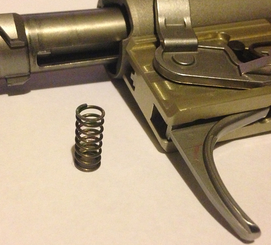 Lithgow LA101 trigger springs. Our kit contains two springs to rectify both pull weight and amount of travel.