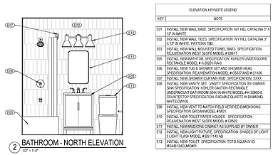 Kitchen and Bath Upgrades - Bathroom Elevation