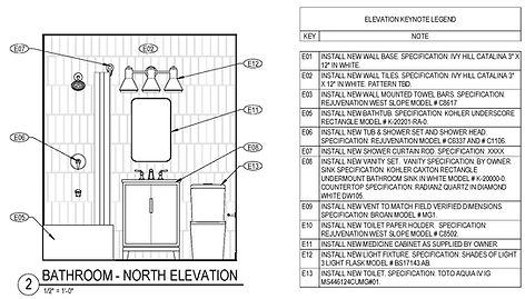 Kitchen and Bath Upgrades - Bathroom Elevation