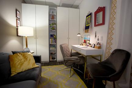 private office ikea pax sofa desk bookcase
