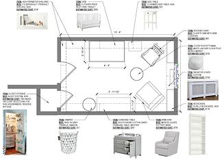 Furniture Layout - Nursery Floor Plan