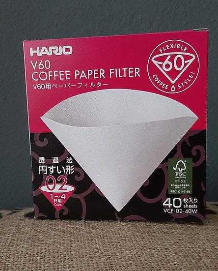 Hario V60-02 Filter - 40 pack