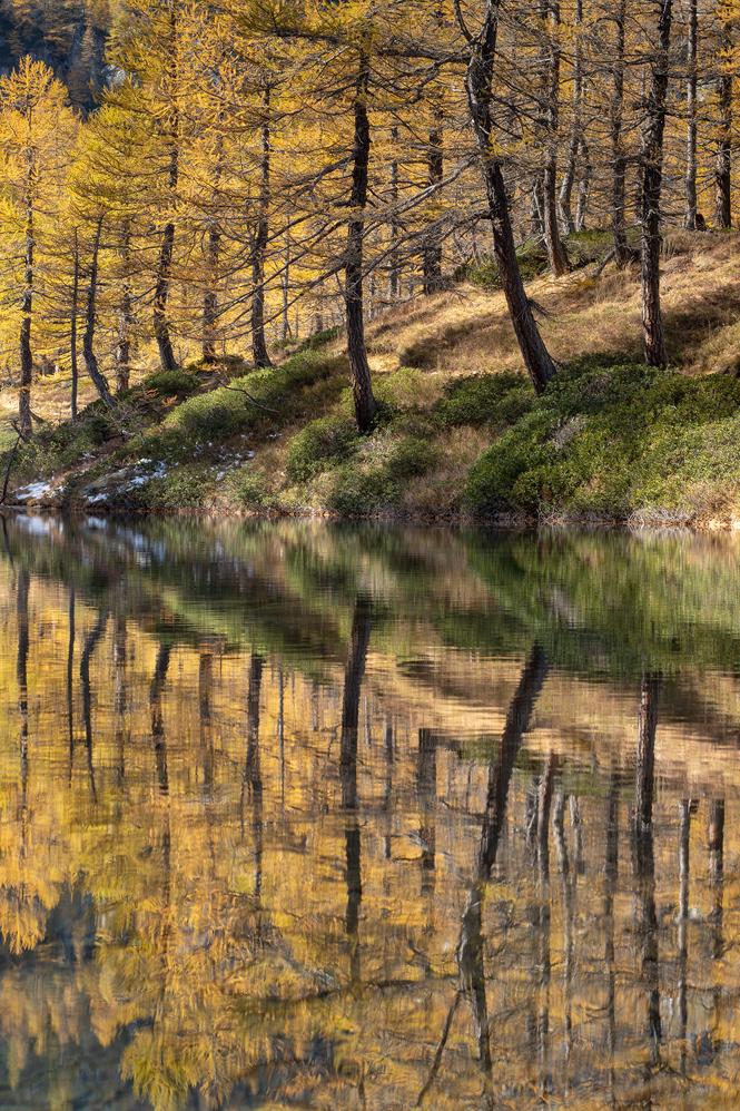 Lago delle Streghe, reflections