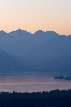 evening lake view
