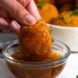 Chutney-Mayo Chicken Mash Balls