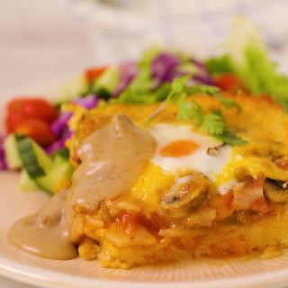 Cheesy Rice Breakfast Bake