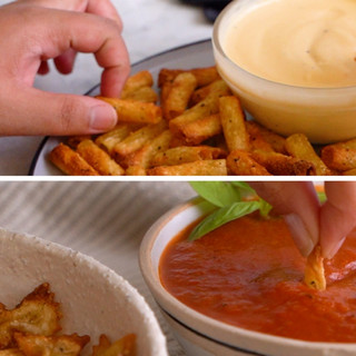 Pasta Chip 'n Dip 2 Ways