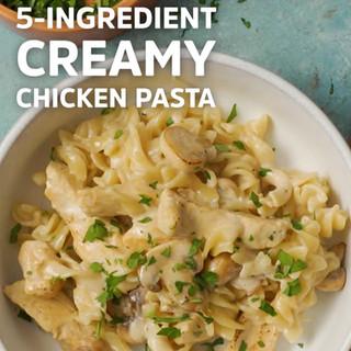 5-Ingredient Creamy Chicken Pasta